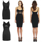 Women Sleeveless Open Back Bodycon Dress Sexy Cut Out Party Night Pencil Dress