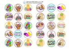 30 x Easter Design Edible Wafer / Icing Cup Cake Topper