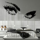 LARGE WOMAN EYES AUDREY EYE SALON  WALL TRANSFER ART STICKER  DECAL