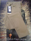 CALVIN KLEIN MEN'S TAPER FIT LOW RISE ZIP FLY TWILL STRETCH JEANS CLASSIC KHAK