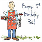 Quality Personalised BBQ King BIRTHDAY CARD ~ ANY AGE & NAME Fun Boys Mens Card
