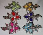 NEW SILVERTONE METAL BARRETTE CRYSTALS SELECT COLOR SHIPS FAST FROM USA