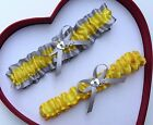 NEW Gorgeous Yellow Silver Wedding Garter Prom* Homecoming GetTheGoodStuff
