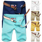 Mens Summer Cotton Casual Sports Capri Pants Shorts Trousers Army Cargo Pants