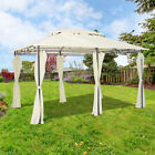 3x4m Metal Pavilion Gazebo Garden Awning Canopy Shelter Party Tent Sun Shade