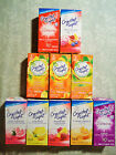 70 PACKETS ONLY CRYSTAL LIGHT ON THE GO DRINK MIX (EQUALS 7 BOXES) MANY FLAVORS