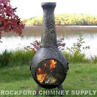 Chiminea Outdoor Firepit Dragonfly Design - Available in 3 Color Options