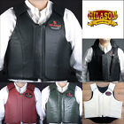 HILASON LEATHER BAREBACK PRO RODEO BULL RIDING PROTECTIVE VEST