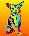 Made in USA Multi-Color Chihuahua Dog Breed Matted Print Wall Decor