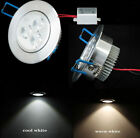 new 3W LED Recessed Ceiling Down Light Bulb Lamp Downlight Warm/cool white