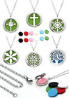 1pc Stainless Steel Aromatherapy Essential Oil Diffuser Locket Pendant Necklace