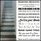 LARGE STAIR RISER STICKERS DISNEY FONTS USED ALL FAVOURITE SONGS VINYL DECALS
