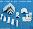 PLASTIC WINDOW DOOR TRIM ARCHITRAVE BEADING VARIOUS SIZES SHAPES 2 X 2.500mm