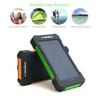 Portable 20000mAh Solar Panel Battery Charger Power Bank for Cell Phone iphone