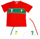 Boys Football Sport PORTUGAL No7 V Neck Top & Shorts Set Kit 2 to 14 Years