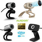 AUSDOM 1080P Full HD USB Webcam Video Network Camera w/Mic for PC Skype 4 Model