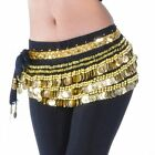 Whosale Lot 8X Belly Dance Velvet Hip Scarf with Gold Coins Skirt Wrap Band
