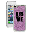 For Apple iPod Touch 4th 5th 6th Glitter Bling Hard Case Cover LOVE Basketball