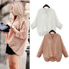 New Fashion Women Casual Loose Long Sleeve Blouse Shirt Tops Summer Casual Shirt