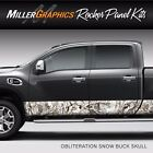 Camo Obliteration Snow Rocker Panel Graphic Decal Wrap Kit Truck SUV 12 x 24