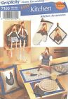 Simplicity 7166 Kitchen Accessories   Sewing Pattern