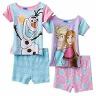 Disney's girls Frozen Elsa Anna Olaf Pajama shorts Set  toddlers size 4T NEW