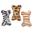 MINI WILD BONES DOG TOY - Small Soft Plush Squeaker Zebra Tiger Leopard Pillow