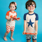 "Vaenait Baby Kids Girls Boys Clothes Short Pajama Outfit set ""Pumping"" 12M-7T"