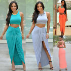 Fashion Sexy Womens Casual Sleeveless Evening Bodycon Party Cocktail Long Dress