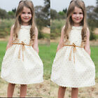 Flower Girls Kids Toddler Baby Princess Party Bow Wedding Tulle Tutu Dresses