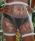 Pvc Adult Baby Incontinence Diaper Transparent Rubber Pants