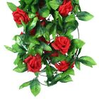 Spring ROSE LOVE Artificial Flower Rattan Decor Faux Foliage Garland Vine Decor