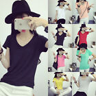 Fashion Sexy Women V-neck Summer Casual Short Sleeve Shirt T shirt Blouse Tops