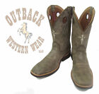 Twisted X Men's Beaver Calf Ropers Square Toe Boots MCR0004