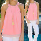 Sexy Women Summer Vest Top Sleeveless Blouse Casual Tank Tops T-Shirt Lace