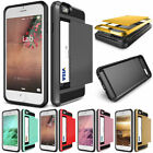 Slide Wallet Case Credit Card Hidden Slot Pocket ID Cash For iPhone 6 6s Plus