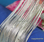 """Wholesale 10pcs Solid Silver Plated 2mm Box Chain Lobster Clasp Necklace 16""""-24"""""""