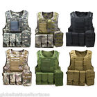 Swat Battle Tactical Military Airsoft Combat Assault Plate Carrier Vest Portable