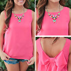 Sexy Women Summer Casual Chiffon Sleeveless Vest Shirt Tops Blouse Ladies Tops