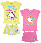 Girls Hello Kitty Cotton T-Shirt Top & Shorts Yummy Star Set 4 6 8 10 Years