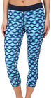 Nike Printed Relay Cropped Ladies Running Tights - Blue
