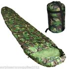 CAMOUFLAGE SLEEPING BAG + COMPRESSION SACK BOYS ARMY KIDS BEDDING CADET SCOUT