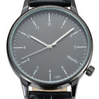 Men's Quartz Wirst Watch Analog Military ultra thin Stainless Steel Band Casual