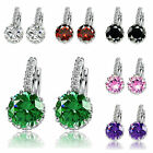 1 Pair Elegant Silver Plated Delicate Zircons Ear Clip Earrings Jewelry