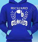 Personalised Pool T-Shrt Gift Idea Add Name Of Your Choice Hoodie Hoody
