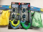 KIDS CHILDRENS M.Y British Standard Snorkel & Goggles Flippers Set Green Yellow