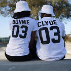 Couple T-Shirt Bonnie 03 and Clyde 03 - Love Matching Shirts - Couple Tee Tops