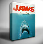 JAWS Classic Film Poster GICLEE CANVAS Wall Art Picture *Choose your size
