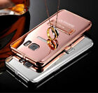 Luxuriousness Aluminum Metal Bumper Frame Mirror Case Cover for Samsung Galaxy S7 Edge