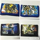 Transformers Boys Tri Fold Wallet Velcro Closure Zipper Pocket Gift Web Toy